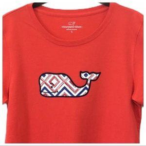 Vineyard Vines Red T-Shirt Big Whale Logo Small